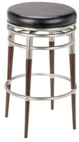 Hillsdale Salem Backless Swivel 26 Inch Counter Height Stool