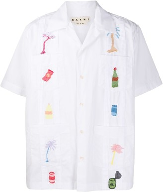 Marni short sleeve Ricamo shirt