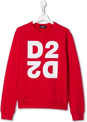 DSQUARED2 TEEN printed logo sweatshirt