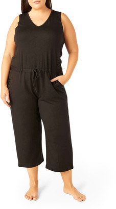 Beyond Yoga Plus Size Solid Choice Baby Terry Jumpsuit
