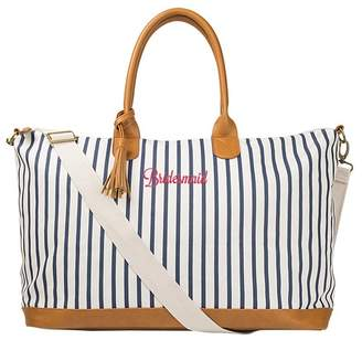 Cathy's Concepts Bridesmaid Striped Weekend Tote