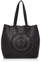 Furla Aurora Laser Cut Medium Leather Tote