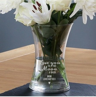 The Personalised Memento Company Personalised Love You to The Moon & Back Vase