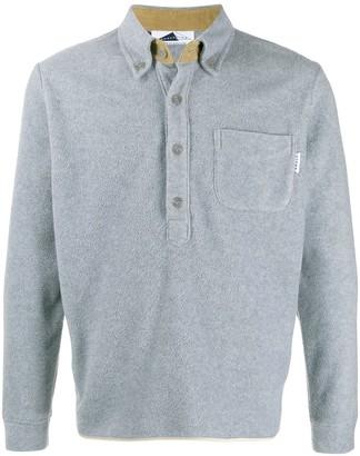 Anglozine Brook fleece collar jumper