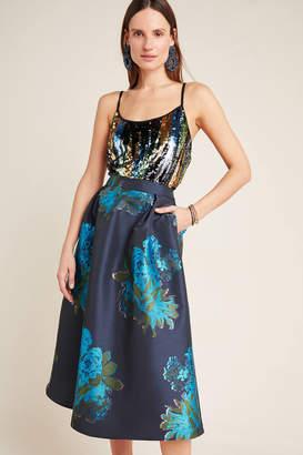 Maeve Ronette Jacquard Midi Skirt