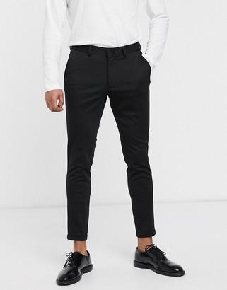 Selected skinny fit formal trousers-Black