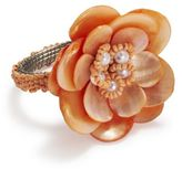 Sur La Table Mother of Pearl Flower Napkin Ring