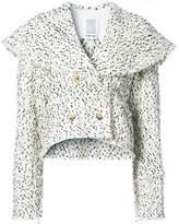 Rosie Assoulin shawl-style speckled jacket