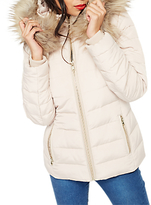 Miss Selfridge Quilted Puffa Jacket, Nude