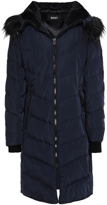 DKNY Quilted Shell Hooded Down Coat