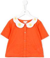Margherita Kids - embroidered collar cardigan - kids - Cotton - 3 yrs