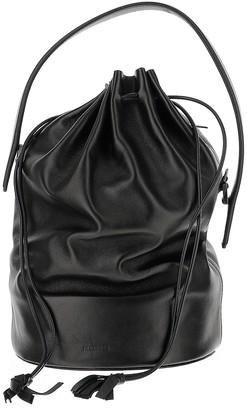 Jil Sander Black Lamb Leather Bucket Bag