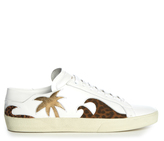 Saint Laurent Palm tree low-top leather trainers