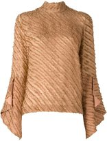 Marco De Vincenzo bell sleeve frayed blouse