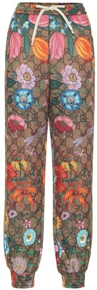 Gucci GG Flora technical-jersey trackpants