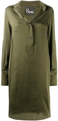 8pm Military-Style Shirt Midi Dress