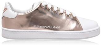 Emporio Armani Metallic Side Logo Trainers