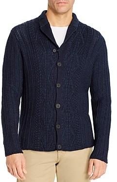 Inis Meáin Aran Program Linen & Cotton Plaited Cardigan