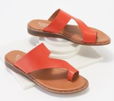 Franco Sarto Leather Toe-Loop Sandals - Ginny