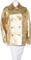 Lanvin Leopard Brocade Trench Coat w/ Tags