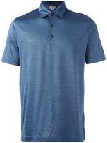 Canali pattern print polo shirt