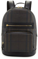 Burberry Marden Men's Check Backpack, Chocolate/Black