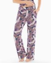 Soma Intimates Pajama Pants Dynasty Floral Plum