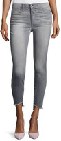 Joe's Jeans The Charlie Ankle Skinny Jeans with Raw Tulip Hem, Jasmyn