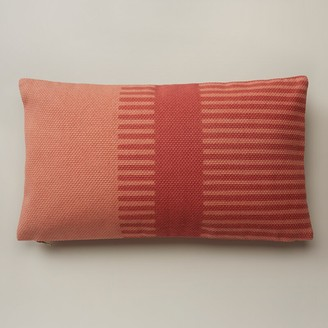 "Oui Combo Stripe Pillow Cover Gerber Daisy 12"" X 21"""