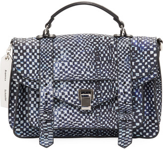 Proenza Schouler Ps1 Micro Printed Leather Top-Handle Bag