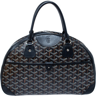 Goyard Black Goyardine Coated Canvas and Leather St. Jeanne MM Bowler Bag