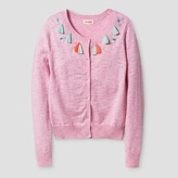 Cat & Jack Girls' Tassels & Jewels Cardigan Cat & Jack - Peppermint Pink Heather