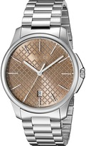 Gucci G-Timeless Large Brown Dial Steel Bracelet Watches