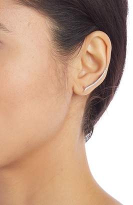 Meira T 14K White Gold Diamond Pave Crawler Earrings - 0.49 ctw