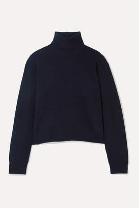 Theory Ribbed Cashmere Turtleneck Sweater - Navy