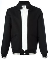 Ports 1961 contrast panel bomber jacket - men - Polyester/Wool - 44