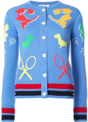 Thom Browne Button Detail Slim Fit Sweater