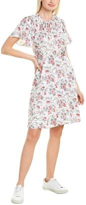 Rebecca Taylor Esmee Fleur Silk-Blend Mini Dress