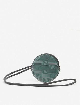 Moreau Paris Logo-print round leather coin purse