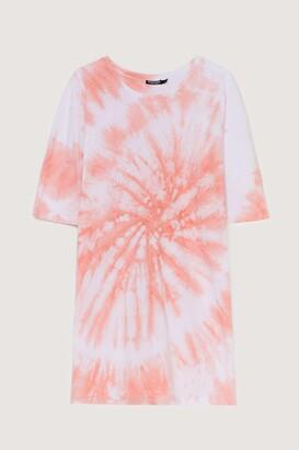Nasty Gal Womens Not On My Acid Wash Tee Dress - Peach