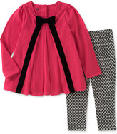 Kids Headquarters 2-Pc. Bow Tunic and Printed Leggings Set, Baby Girls (0-24 months)
