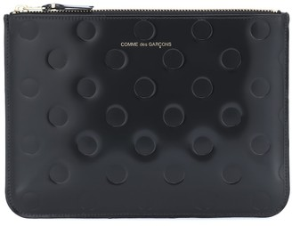 Comme des Garcons Dots Large embossed leather pouch