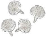 One Kings Lane Set of 4 Aster Napkin Rings - Silver