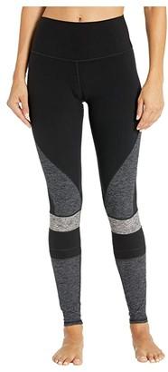 Alo High-Waist Alosoft Momentum Leggings (Black/Dark Heather Grey/Dove Grey Heather/Black) Women's Casual Pants