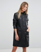 Selected Leather Dress