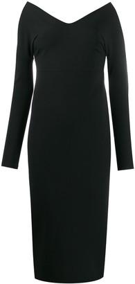 A.W.A.K.E. Mode V-Neck Midi Dress