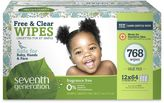 Seventh Generation Seventh GenerationTM 768-Count Free & Clear Wipes