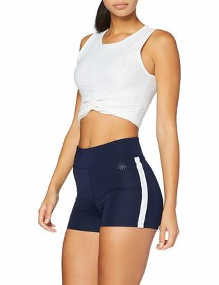 Amazon Brand - AURIQUE Women's Side Stripe Sports Shorts