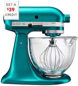 KitchenAid Artisan Design Series 5Qt Tilt - Head Stand Mixer With Glass Bowl - Ksm155gbsa With $39 Credit