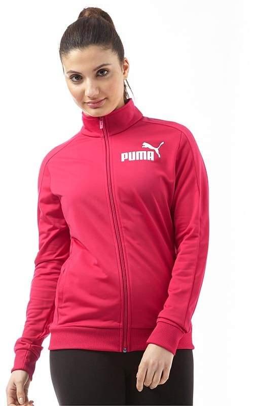 Puma Womens Essentials Poly Track Top Love Potion